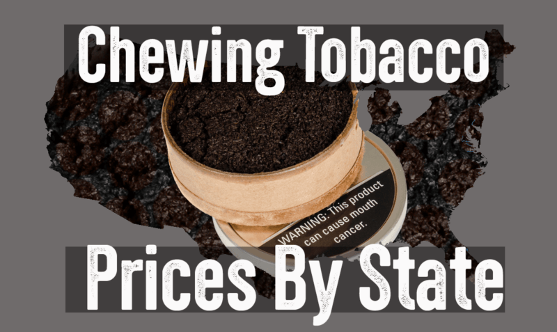 chewing tobacco prices by state