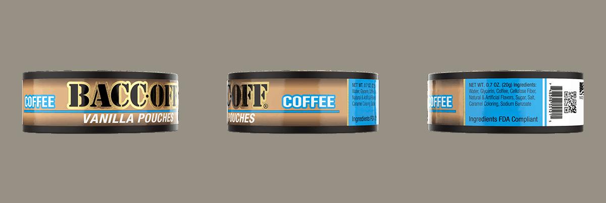 baccoff vanilla coffee pouches